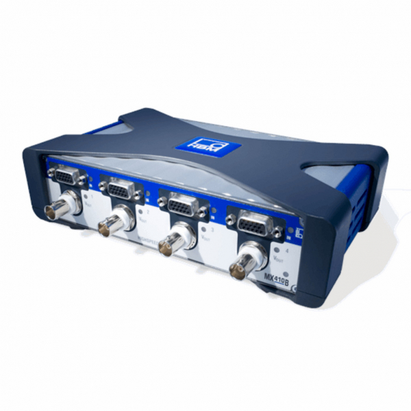 The 1-MX410B is 4 channels signal amplifier suitable for strain gage application.