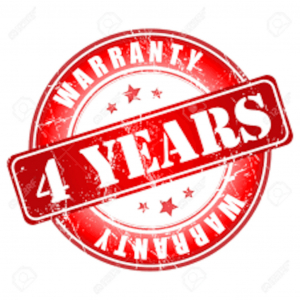 Extended warranty on the system and its accessories - 4 Years.