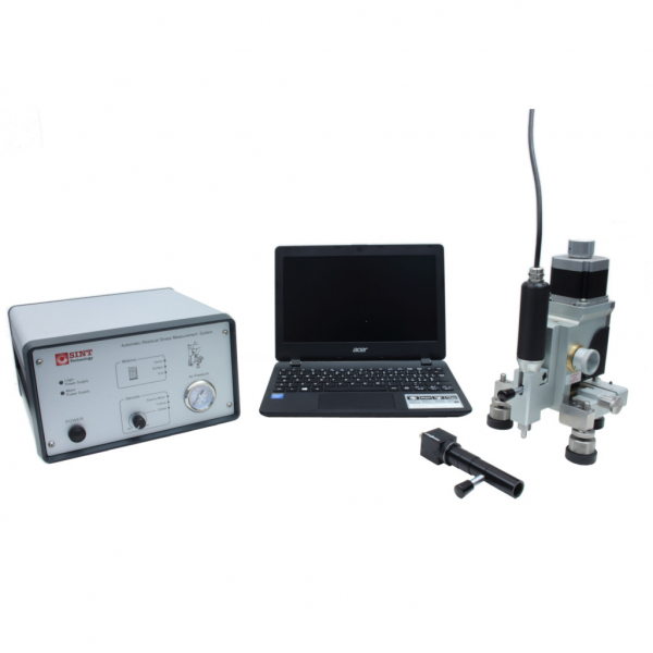 Residual stress device for hole drilling measurements using electric motor drilling for polymeric materials and digital microscope
