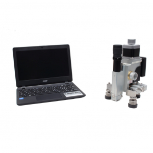 Cost-effective manual residual stress device for hole drilling measurements using high speed drilling and optical microscope