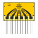 HBM strain gage rosette with 3 grids, for hole drilling measurements 5.10mm, rectangular layout with 3 wires connection cables (0.5 m).