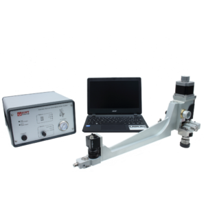 Residual stress device for internal pipe hole drilling measurements